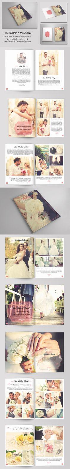 Indesign Wedding BrochureV  Brochures Photography Brochure