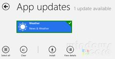 New maps & Ski resorts info added to Bing Weather app of Windows 8/RT in an update