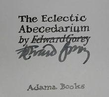 Eclectic Abecedarium.