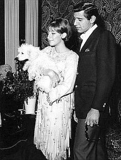 Barbra Streisand, 23, and Joe Namath, 22, backstage at Broadway's Winter Garden, where Streisand was starring in 'Funny Girl,' (Sept 1965)