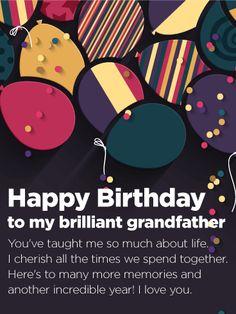 To My Brilliant Grandfather