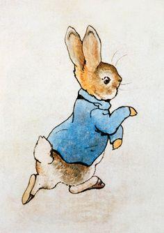 Peter Rabbit Running Mural - Beatrix Potter| Murals Your Way