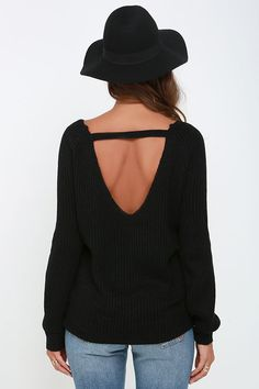 The odds of you looking totally adorable in our Knit a Chance Black Backless…