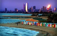 Brighton Beach, Melbourne. I liked it better than St Kilda beach. Cleaner, less crowded.