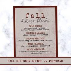 Fall Essential Oils, Essential Oil Diffuser Blends, Young Living Essential Oils, Young Living Diffuser, Young Living Oils, Diffuser Recipes, Room Deodorizer, Diffusers, Dark Side