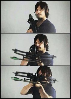 """Norman Reedus named his crossbow """"Marianne"""" after his mom."""
