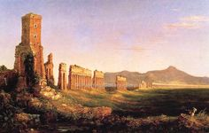 トマス・コール Aqueduct near Rome Thomas Cole Mildred Lane Kemper Art Museum - St Louis, MO Painting - oil on canvas Landscape Art, Landscape Paintings, Landscapes, Oil Paintings, The Course Of Empire, Moritz Von Schwind, Carl Spitzweg, Oil Painting Gallery, Hudson River School
