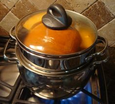 How to bake a pumpkin pin from scratch - different methods for preparing the pumpkin: baking, steaming, pressure cooker, crock pot - plus recipe