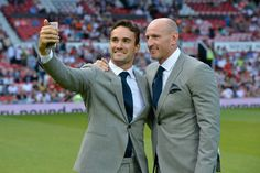 REISS X Soccer Aid 2016 Thom Evans and Gareth Thomas