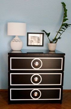 Ikea Hack dresser makeover! Love the new design!
