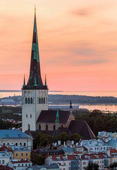 St Olaf's Church in Tallinn, Estonia