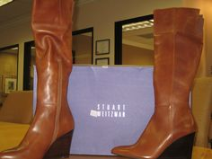 Stuart Weitzman Saddle Old West Calf boots  size 11.5  Available at our Tustin store