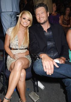CMT Music Awards 2014: Blake Shelton and Miranda Lambert pose together during the show!