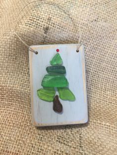 Beachcomber Christmas tree ornament by BeachcombercraftArt on Etsy Sea Glass Beach, Sea Glass Art, Sea Glass Crafts, Shell Crafts, Coastal Christmas, Christmas Art, Etsy Christmas, Homemade Christmas, Christmas Tree Ornaments