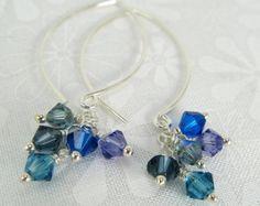 Enchanting Turquoise Shooting Star Earrings Silver by KapKaDesign