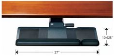 """Amazon.com : Humanscale 500 Keyboard Tray Big Board Platform w/ 2G Arm mechanism, 22"""" track, and Gel palm rest : Office Desk Trays : Office Products"""