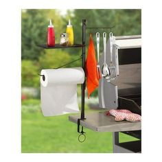 Maverick - Maverick BBQ Accessory Organize - Four double-sided hooks for holding your most important barbecue tools. Paper Towel Holder is a...