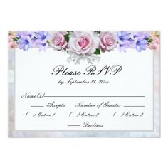 Find customizable Vintage invitations & announcements of all sizes. Pick your favorite invitation design from our amazing selection. Wedding Rsvp, Wedding Pins, Wedding Day, Wedding Stationary, Wedding Invitations, Stationary Items, Bokeh, Wedding Response Cards, Silver Roses