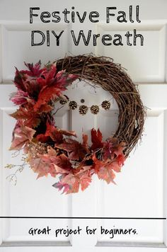 Let Merrick White put you in the fall crafting mood with this DIY autumn wreath anyone can do! | No experience necessary!