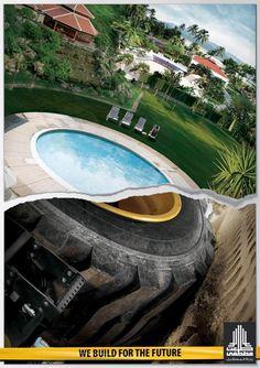 "Les 10 prints les plus brillants et créatifs du lundi ! adv / ""We build for the future"" by Tal'At Mustapha Construction Creative Advertising, Print Advertising, Advertising Campaign, Print Ads, Advertising Ideas, Recruitment Ads, Construction Safety, Photoshop Design, Photoshop 5"
