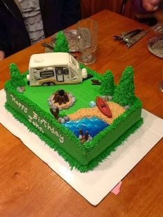 Learn To RV: Camping Themed Birthday Cake - Roo 233S