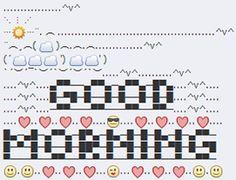 Good morning Emoji art.