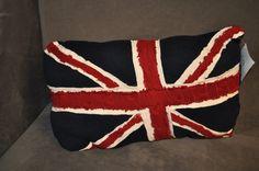 sale RYLO United Kingdom Union Jack knit throw pillow. by RYLOwear, $28.00