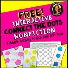 Free Download! Common Core Aligned Interactive Reading Notebook Activity: Connect the Dots   Students will make connections between ideas/concepts,...