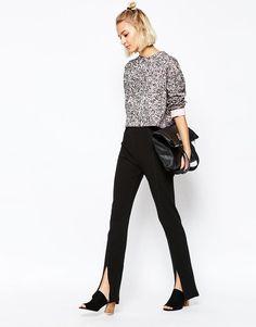 Leggings negras con detalles de moda Conjuntos De Moda d05a6dceaf9d