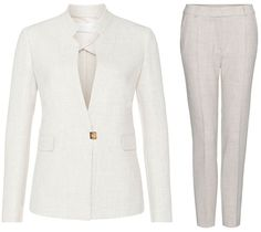 BOSS 'Kamalia' fitted blazer with metal detail (US$545), and BOSS 'Acnes6' structured trousers (US$245).