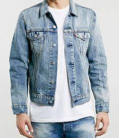 Check out Levi's Slim blue Trucker denim jacket* on @grabble