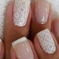 Beautiful Wedding Lace Nails