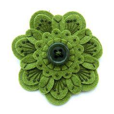 Monochromatic felt flower