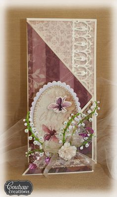 Couture Creations: Tri Fold Snowdrop Card by Sue Smyth