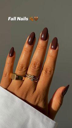 Stylish Nails, Almond Nails, Winter Nails, Autumn, Fall, Gel Nails, Style, Elegant Nails, Gel Nail
