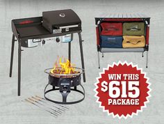 Camp Chef - Win the Ultimate Tailgating Package - http://sweepstakesden.com/camp-chef-win-the-ultimate-tailgating-package/