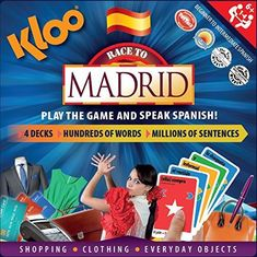 KLOO's Learn to Speak Spanish Language Board Game - Race to Madrid Spanish Games, Spanish Activities, Spanish Lessons, Spanish Language Learning, Teaching Spanish, Teaching Emotions, Activities For Boys, Learning Activities, Teaching Resources