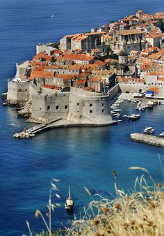 Lets be honest.. who doesn't love a castle on the water? Old Town, Dubrovnik, Croatia    #croatia #castles #history