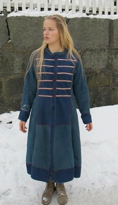 Coat/kaftan with Birka tablet weaving. By Nille Glaesel  Going to make myself a coat similar to this.  No woman would run around in the winter with their tatas hanging out like all the female versions I've seen of Viking coats.