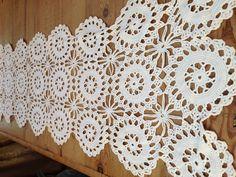 Vintage Hand Crocheted Table Runner