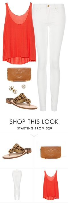 """""""Happy Memorial Day!"""" by thevirginiaprep ❤ liked on Polyvore featuring Jack Rogers, Tory Burch, MANGO, Enza Costa and Majorica"""