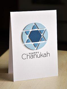 Happy Chanukah Card by Maile Belles for Papertrey Ink (October – Hanukkah Happy Hanukkah Images, Hanukkah Cards, Christmas Hanukkah, Hannukah, Holiday Cards, Christmas Cards, Christmas Ideas, Hand Made Greeting Cards, Greeting Cards Handmade