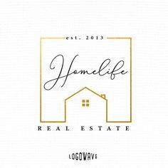 Home Design Logo. Home Realtor Logo. House Logo. House Realtor Logo. Real Estate Logo. Business Realtor Logo. Home Property Logo by Logowave on Etsy