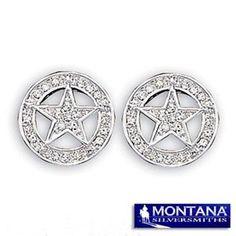 Montana Silversmiths Rhinestone Star Earrings