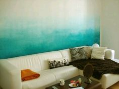 Ombre wall paint
