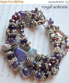 ON+SALE+amethyst+bracelet+druzy+bracelet+purple+by+soulfuledges