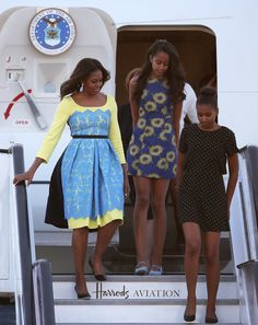 Michelle Obama and Daughters in Europe June 2015 | Pictures | POPSUGAR Celebrity