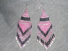 """Boucles d'oreilles """"franges"""" en perles tissées : Boucles d'oreille par for-deesses"""