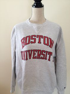 Vintage Boston University Sweatshirt by 21Vintage on Etsy, $24.50
