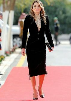 Image result for HIGH FASHION: Queen Rania of Jordan is the epitome of impeccably selected modest style. Be inspired + discover her fashion formula via